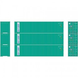 HO 40' Corrugated Container Dong Fang (3-pack)_58822