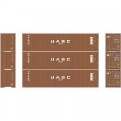 HO 40' Corrugated Container Triton-UASC (3-pack)_58823