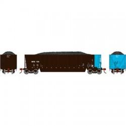 HO Bathtub Gondola w/Load Wisconsin Public 109_58881