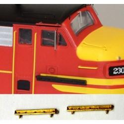 HO F Unit Cab Nose Walk (2 pieces) Brass_59043