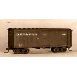 HOn3 27' Box Car DSP&P, C&S (kit - Kunststoff)_59335
