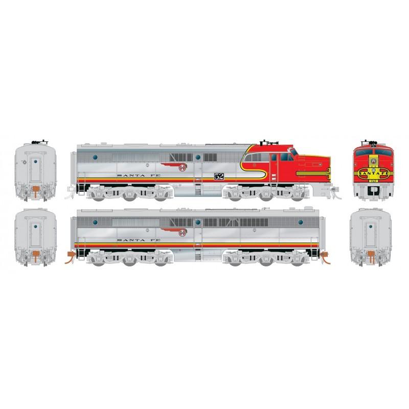 HO PA-1 + PB-1 Santa Fe 59L & 59A DC/DCC/Sound_59435