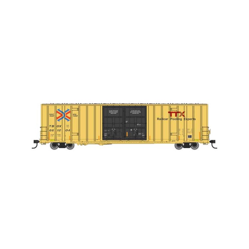 HO 60' High-Cube Plate F Boxcar TTX 661273_59563