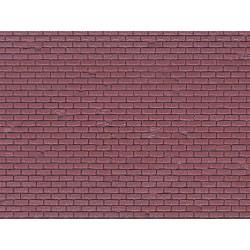 HO Mauerplatte Ziegel aus Kunststoff 21,8 x11,9cm_59925