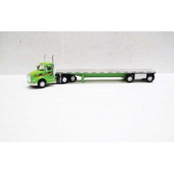 HO Peterbilt 579 Day-Cab Tractor with Flatbed Trai_60308