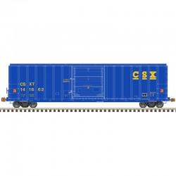 HO 5077 sgl door box car CSX 141662_61570