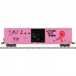 HO 5077 sgl door box car Railbox on track 40188_61580