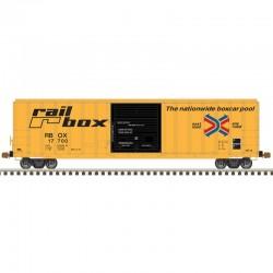 HO 5077 sgl door box car Railbox 17721_61584