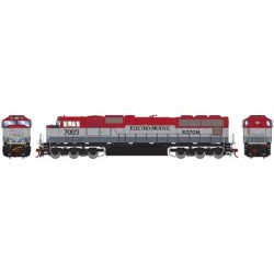 HO SD70M EMDX Maroon/Silver 7017 DCC_61607