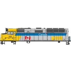 HO EMD F40PH  VIA Canada schene 6402 DCC-ESU_61618