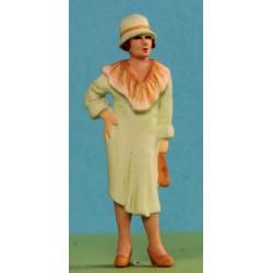 2301-A8 Woman wearing a cloche hat - c.1920's_6204
