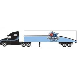 HO 2000 Semi Tractor Trailer set Paul Bunyan Truck_62341