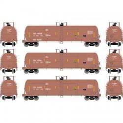HO RTC 20k Acid Tank Car TILX / Red-Brown 3-pack_62544
