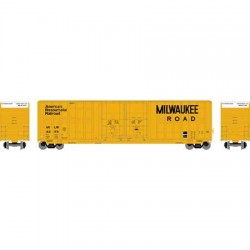 HO 60 Berwick Hi-cube box car Milwaukee 4300_63421