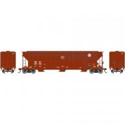 HO 54 FMC 4700 3-bay cov hopper BNSF Buffer 808650_64140