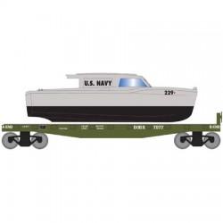 HO 40 flat with boat U.S.Navy  Boat 7084_64174