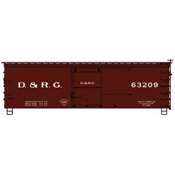 HO 36 dbl sheath mtl box car D&RGW 63209_64352