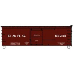 HO 36 dbl sheath Box Car - kit - D&RGW 63248_64366