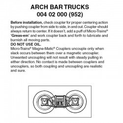 Z Arch bar trucks with no coupler. 1 pr._64896