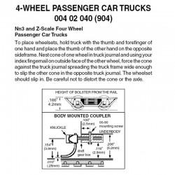 Z 4-wheel passenger car trucks with no couplers. B_64898