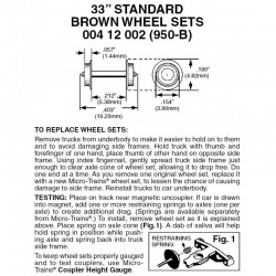 """Z 33"""" Standard plastic wheel sets. 12 axle_64904"""