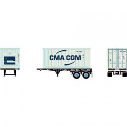 HO 20' Reefer Container with Chassis CMA CGM_65108
