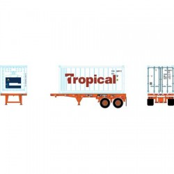 HO 20' Reefer Container with Chassis Tropical_65110