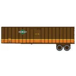 HO 40 Flexi-Van Trailer - 2-pack- Illinois Central_65426