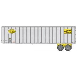 HO 40 Flexi-Van Trailer - 2-pack- NYC yellow logo_65436