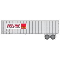 HO 40 Flexi-Van Trailer - 2-pack- Soo Line_65450