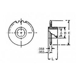 300-70153 Delrin Zahnrad 15 Z. 4.6mm A._6546