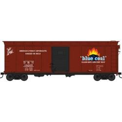 HO 40' Single-Door Steel Boxcar Blue Coal 19201_65499