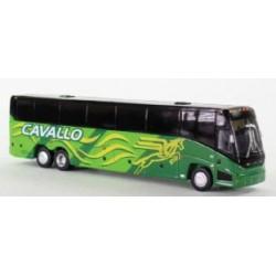 HO MCI J4500 Motorcoach Bus Cavallo (green, yellow_65734