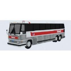 HO 1984 MCI MC-9 Motorcoach Bus Trailways (silver,_65783