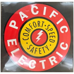 460-10032 Die-cast metal sign Pacific Electric_65826