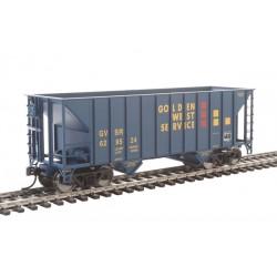 HO 34' 100-ton 2-bay hopper Golden West 629524_66190