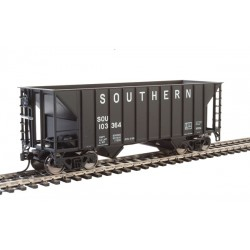 HO 34' 100-ton 2-bay hopper Southern  black 103366_66222