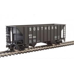 HO 34' 100-ton 2-bay hopper Southern  black 103420_66223