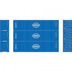 HO 40' High-Cube Container Cosco Shippin (3) Set 1_66310