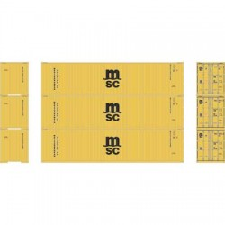 N 40' High-Cube Container MSC (3) Set 2_66345