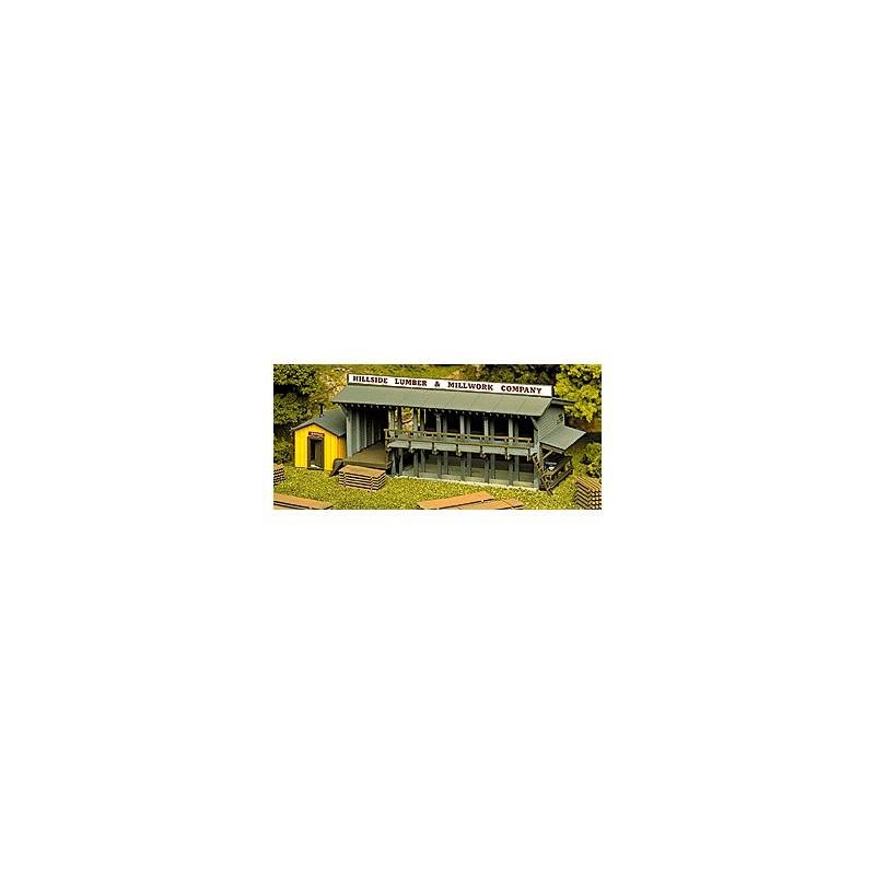 HO Lumber Yard & Office - Kit - 9.5 x 21.3cm -_67092