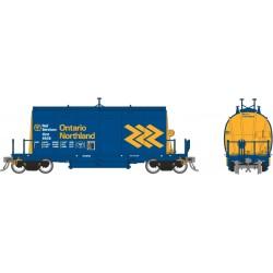 HO Barrel Ore Car (long) ONR Chevron Scheme 1-car_68123