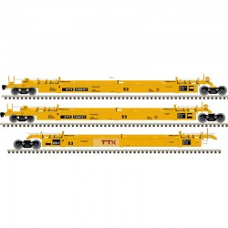 HO Articulated Well Car TTX (large logo)_68493