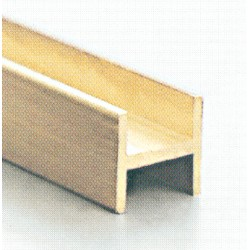 Messing H Profil 1,0 x 1,0 mm 980 mm lang_685