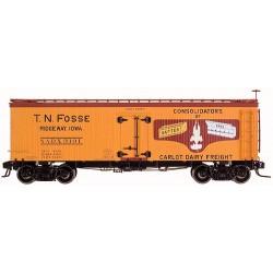 151-9055-2 O 36' Wood Reefer Car T.N.F. #3101