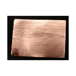 Wellblech Kupfer 125 x 175  x 0,05mm W 0.75mm 2 St_9036