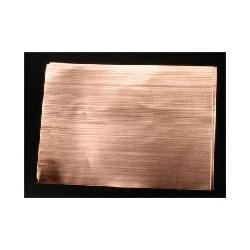 Wellblech Kupfer 125 x 175  x 0,05mm W 1.5mm 2 St_9037