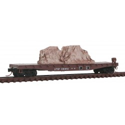 N 50' Flat Car, Fishbelly side, ATSF 206650_9340